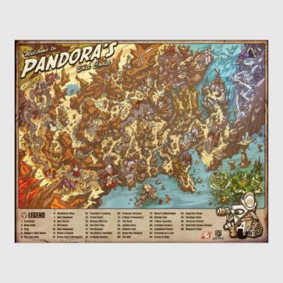 Постер Карта Пандоры (игра Borderlands)