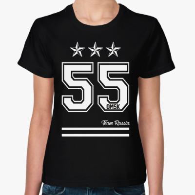 Женская футболка Омск