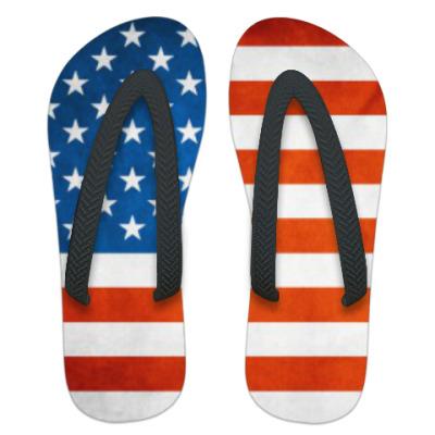 Шлепанцы (сланцы) Американский флаг