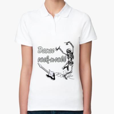 Женская рубашка поло Рок-н-ролл