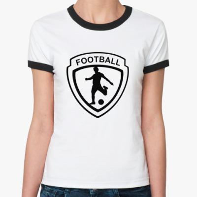 Женская футболка Ringer-T Футбол