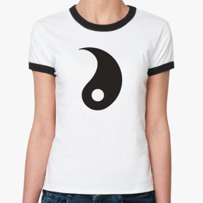 Женская футболка Ringer-T Инь.