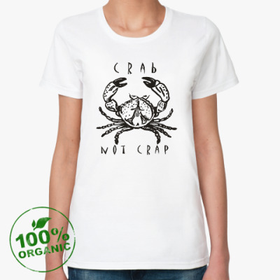 Женская футболка из органик-хлопка Краб