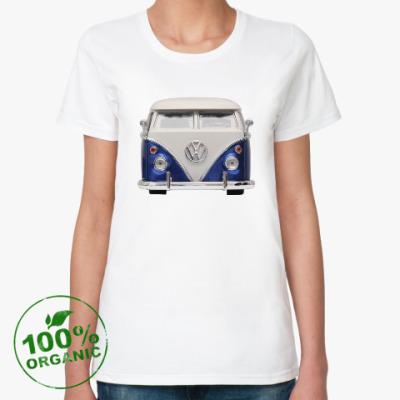 Женская футболка из органик-хлопка Volkswagen Bus