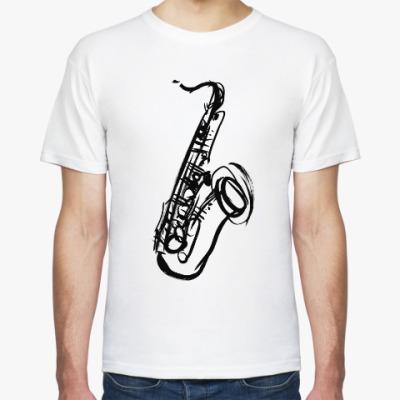 Футболка саксофон