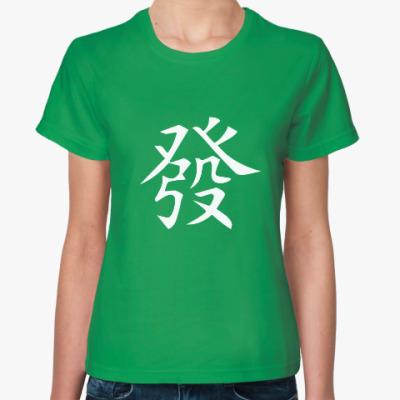 Женская футболка Хацу - зеленый дракон