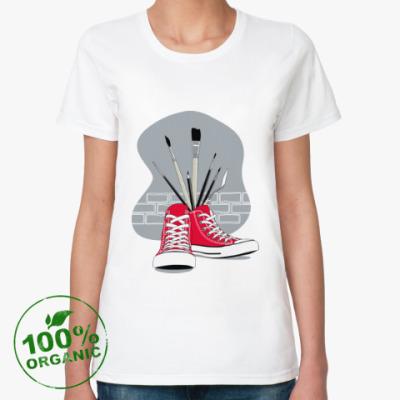 Женская футболка из органик-хлопка Street Art