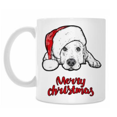 Кружка Собака Санта