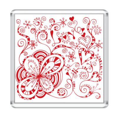 Магнит Цветы любви