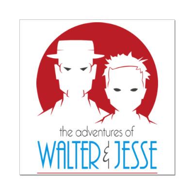 Наклейка (стикер) Уолтер и Джесси