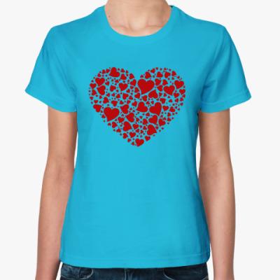 Женская футболка Сердце любви!