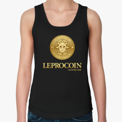 Женская майка Leprocoin