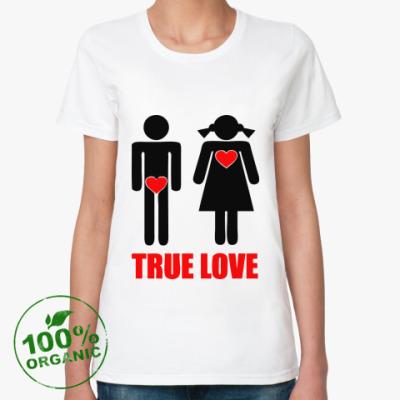 Женская футболка из органик-хлопка 'True Love'