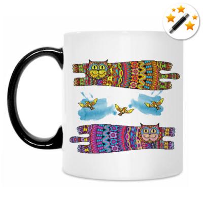 Кружка-хамелеон Галлюциногенные коты