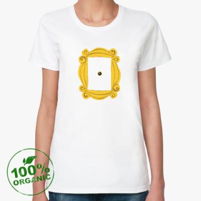 Женская футболка из органик-хлопка Рамка Моники
