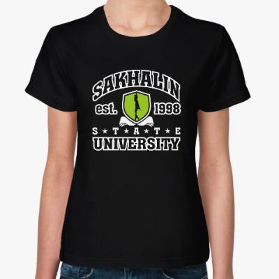 Женская футболка СахГУ Сахалинский университет