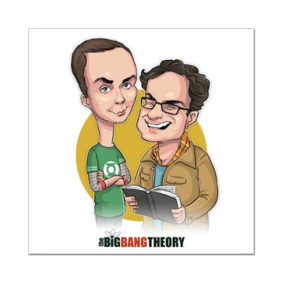 Наклейка (стикер) Шелдон и Леонард. Теория большого взрыва