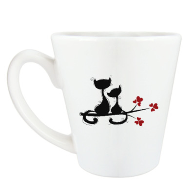 Чашка Латте Любовь и кошки