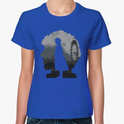 Женская футболка Sherlock city