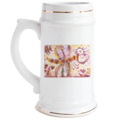 Пивная кружка Стрекоза из м/ф Винни-Пух