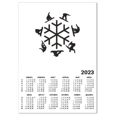 Календарь snowboard