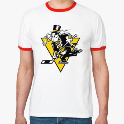Футболка Ringer-T Go Penguins