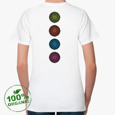 Женская футболка из органик-хлопка Спирали