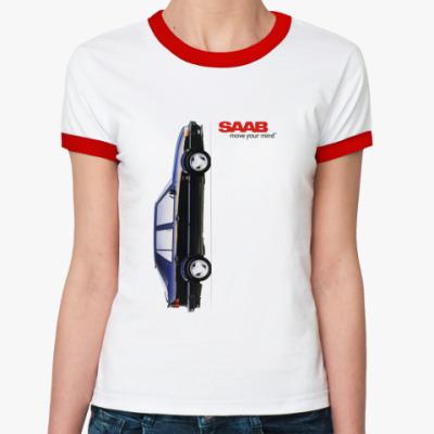 Женская футболка Ringer-T Subaru