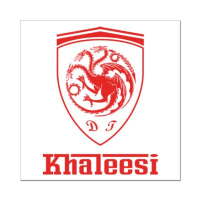 Наклейка (стикер) Khaleesi Ferrari
