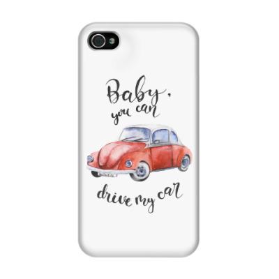 Чехол для iPhone 4/4s Детка, можешь сесть за руль моей машины