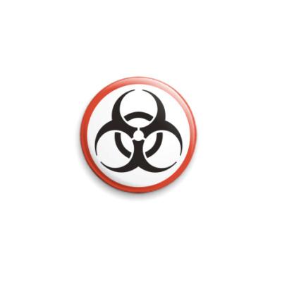 Значок 25мм Биологическая угроза