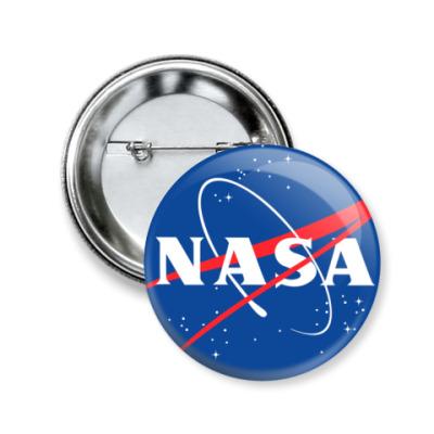 Значок 50мм NASA