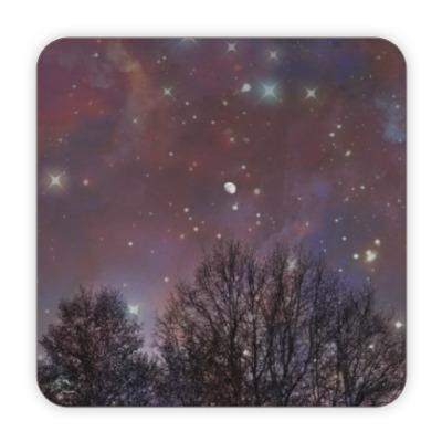 Костер (подставка под кружку) Ночное небо