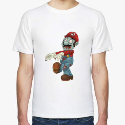Футболка Марио зомби