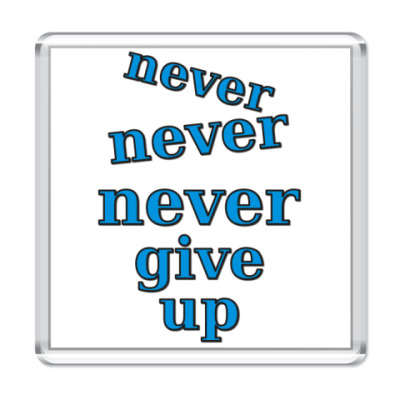 Магнит Never give up