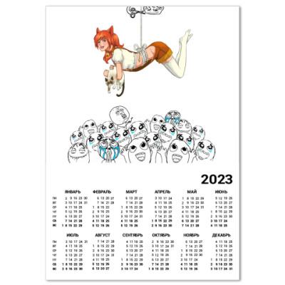 Календарь Реактор тян