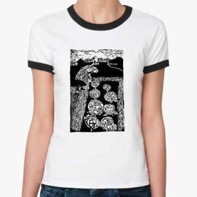 Женская футболка Ringer-T Бабкина капуста