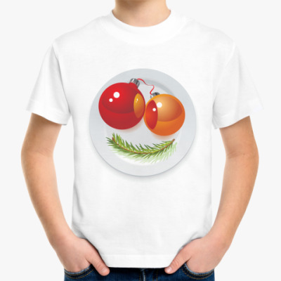 Детская футболка Новогодняя рожица