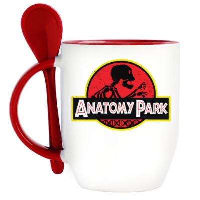 Кружка с ложкой Anatomy Park