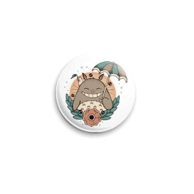 Значок 25мм Smile Totoro