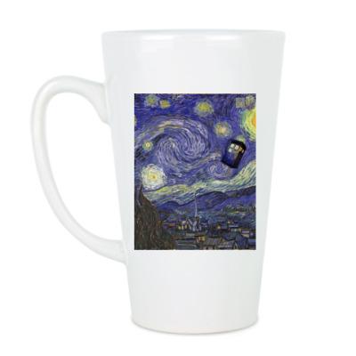 Чашка Латте Ван Гог и Тардис
