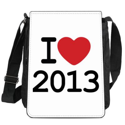 Сумка-планшет Новогодний принт I Love 2013