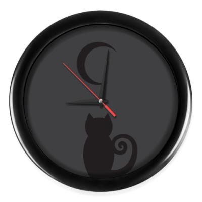 Настенные часы Кошачьи ночи