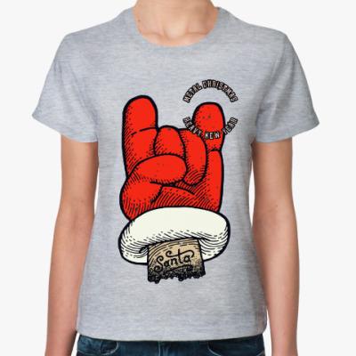 Женская футболка Metal Christmas Heavy New Year