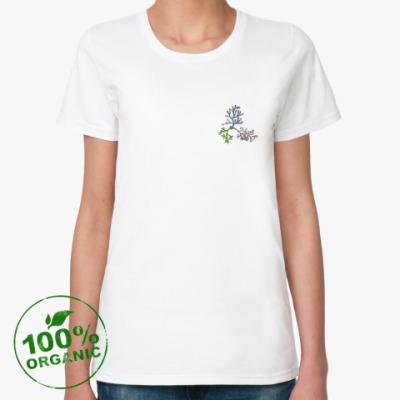 Женская футболка из органик-хлопка Соцветие