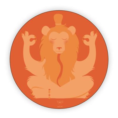 Костер (подставка под кружку) Animal Zen: L is for Lion