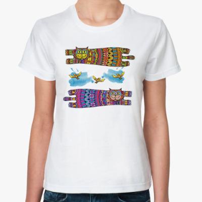 Классическая футболка Галлюциногенные коты