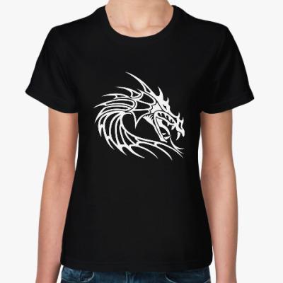 Женская футболка Древний дракон