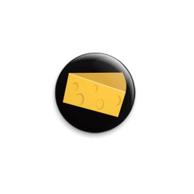 Значок 25мм сыр