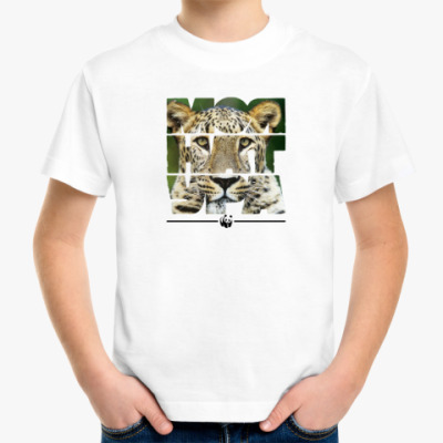 Детская футболка WWF. Моя натура - Леопард!